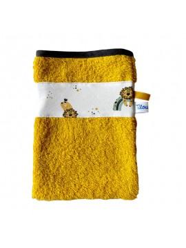 gant de toilette et cape de bain tilou